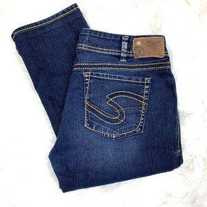 👖 •SILVER•  Suki Slim Jeans Tailored Short 33x28